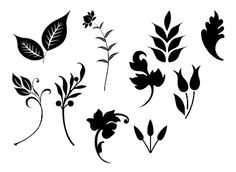 free Leaves SVG cutting files #Silhouette #CutFile