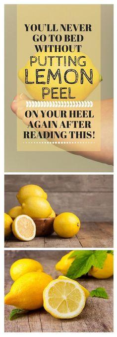 #Lemon #Peel #Heel #Feet #Skin #Sleeping #Bed