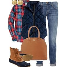 A fashion look from February 2013 featuring blue puffy vest, zipper skinny jeans and chain boots. Browse and shop related looks. Adrette Outfits, Preppy Outfits, Club Outfits, Fashion Outfits, Boot Outfits, Style Fashion, Preppy Dresses, Fashion News, Preppy Mode