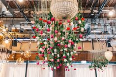 Hanging Roses at reception.