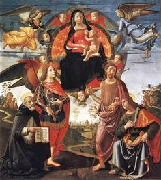 domenico ghirlandaio 1449-1494 | Madonna in Glory with Saints