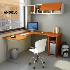 Image result for scrivania angolare angolo cameretta piccolo moderno