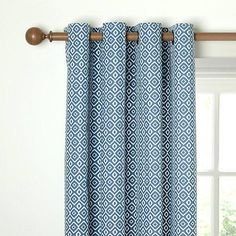 blue patterned curtains picture blackout