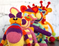 The second series of knitted toys