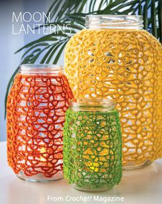 Moon Lanterns from the Summer 2014 issue of Crochet! Magazine. Order a digital copy here: http://www.anniescatalog.com/detail.html?code=AM22155