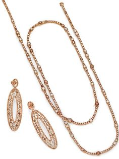 Lenti & Villasco multicolor brown diamond necklace