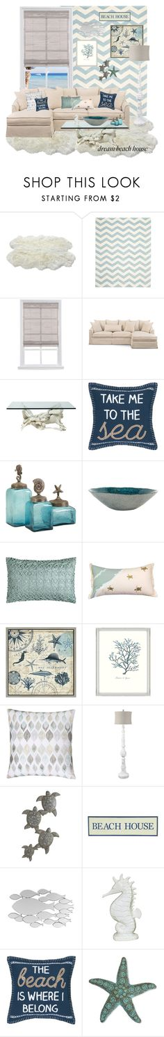 """""""#beachhouse"""" by luchi4 ❤ liked on Polyvore featuring interior, interiors, interior design, home, home decor, interior decorating, Safavieh, C & F, Green Leaf Art and Home Decorators Collection"""