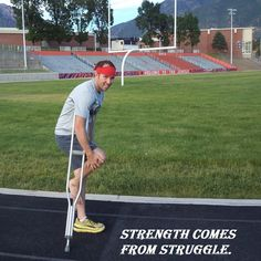 The struggle you're in today is developing the strength you need for tomorrow. Crutches, Staying Positive, Inspiring Quotes About Life, Inspiration Quotes, Baseball Field, Underarm, Strength, Medical, Positivity