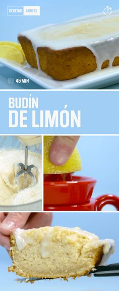 El budín de limón glaseado es un clásico que va bien para cualquier momento. Acá te enseñamos unos truquitos para que te salga súper húmedo y esponjoso. Yummy Food, Tasty, Crazy Cakes, Eat Dessert First, Dessert Recipes, Desserts, Yummy Cakes, Sweet Recipes, Bakery