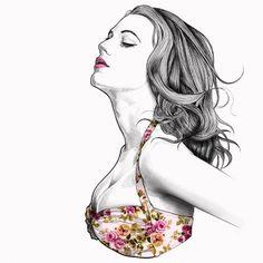 Ilustrações Mustafa Soydan moda arte fotografia desenho