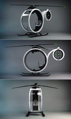 ZEROº Helicopter concept by Héctor del Amo. for neighborhood strolls. ufo watching.
