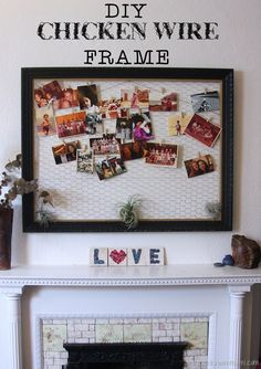 Make a DIY chicken wire frame #LowesCreator #sponsored
