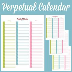 This is a printable perpetual calendar thats perfect for remembering birthdays, anniversaries, and other special occasions. Never forget an