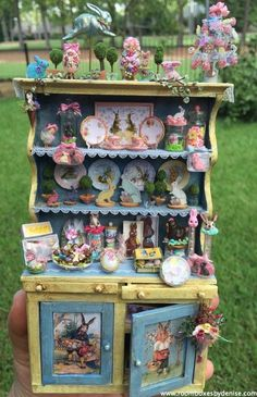 Hippity Hop Shop By Denise Morales.  Go to roomboxesbydenise.com for more beautiful miniatures.