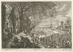Winter, Aegidius Sadeler, Marcus Christoph Sadeler, Keizerlijk hof, 1620