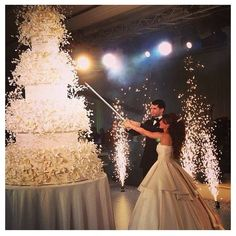gâteau feu d'artifice
