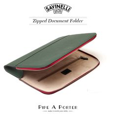 Document holder in italian leather. An awsome gift idea from #Savinelli. http://eu.pipeaporter.com/zipped-document-folder-savinelli-t712ver.html