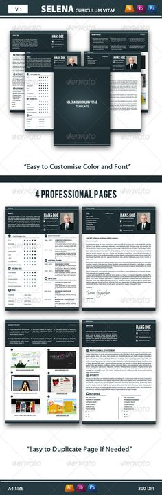 Resume/CV - Resumes Stationery Download here   graphicriver