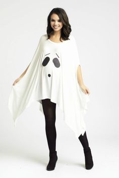 Easy Ghost Costume - Easy Maternity Halloween Costumes to Dress Up Your Bump - Photos Costume Halloween, Halloween Date, Pregnant Halloween Costumes, Halloween Kids, Maternity Halloween, Halloween Stuff, Halloween Makeup, Halloween Inspo, Halloween 2019