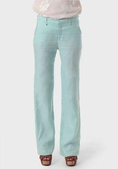 Lagoon Of Venice Linen Pants | Modern Vintage Bottoms | Modern Vintage Clothing
