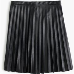 J.Crew Faux-Leather Pleated Mini Skirt (410 PEN) ❤ liked on Polyvore featuring skirts, mini skirts, pleated skirt, short long skirts, long pleated skirt, pleated miniskirt and faux leather skirts