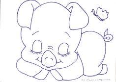 Sugestão de Cores:     Porquinho: amarelo pele, caramelo e rosa chá.     Chão: verde folha, verde pinheiro, glitter verde.     Bor... Easy Drawings Sketches, Animal Sketches, Glitter Force, Animal Coloring Pages, Coloring Books, Alfabeto Animal, Princess Crafts, Painting Templates, Embroidery Designs