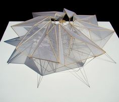 """enochliew: """" Tension/Compression by Nick Rosas Held together at its center by an octagonal frame suspended in place by opposing tensile forces pulling at its eight vertices. Parametric Architecture, Pavilion Architecture, Parametric Design, Interior Architecture, Sustainable Architecture, Residential Architecture, Contemporary Architecture, Landscape Architecture, Pavilion Design"""