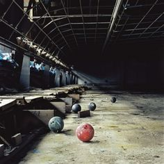 ... nabandoned bowling alley ...