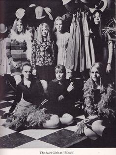 Sales girls at BIBA, mid 1960s