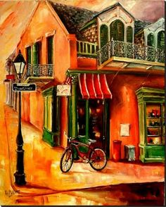 New Orleans Art by Diane Millsap: Early Morning on Ursulines Street