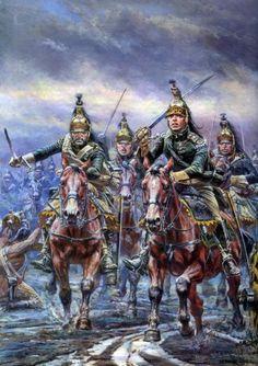 Dragones franceses en Leipzig - A. F. Telenik