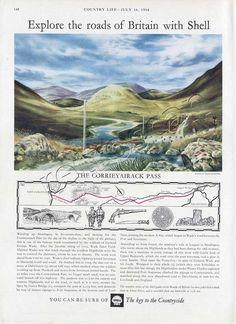 1962 Shell Guide to the Corrieyairack Pass. Artist David Gentleman
