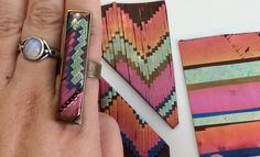 Polymer Clay TV & Polymer Clay Productions: How to do polymer clay bargello technique with mylar foils