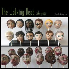 The Walking Dead cake pops!