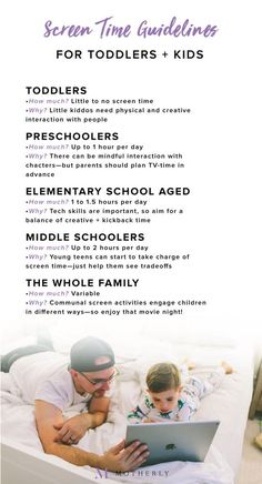 No more guessing: Screen time guidelines for toddlers to teenagers No more guessing. Save this screen time guidelines infographic to help you with your toddlers to teenagers time with their digital devices. Screen time guidelines by child's age Parenting Classes, Parenting Styles, Parenting Books, Parenting Advice, Kids And Parenting, Parenting Quotes, Peaceful Parenting, Gentle Parenting, Triple P