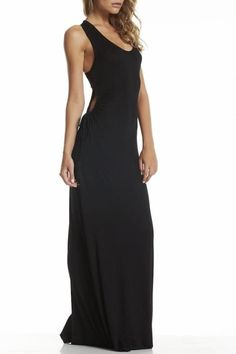 Maxi with keyhole adjustable sides. The perfect maxi dress for any occasion.   Elan Maxi by Elan. Clothing - Dresses - Maxi Clothing - Dresses - Formal Clothing - Dresses - Casual Bucktown, Chicago, Illinois