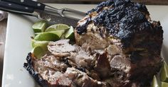1 to bone-in pork butt with a layer of fat on top 6 garlic cloves 1 large yellow onion, chopped 1 jalapeño pepper, ribs removed, seeded, and… Slow Roast, Pork Roast, Pork Recipes, Cooking Recipes, Keto Recipes, Recipies, Pork Ham, Pork Dishes, Barefoot Contessa