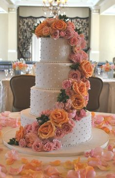 Simple elegance wedding cake  by The Cake Zone, www.thecakezone.com