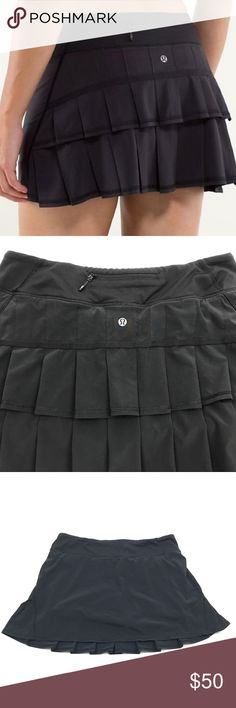"""Lululemon Black Pace Setter Skirt Women's Size 8 Lululemon Black Pace Setter Skirt Women's Size 8  Waist: 17""""  Length: 15""""  Condition: Excellent pre-owned condition. lululemon athletica Skirts Mini"""