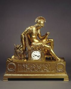 Mantle Clock: The Vigil of Alexander the Great. 1830-40.  Pierre Philippe Thomire. French 1751-1843.Bronze, cast, chased and gilded70 x 30 x 70 cm© State Hermitage Museum, St Petersburg