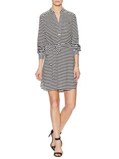 Stripe Waist Tie Shirtdress by Alex   Alex at Gilt