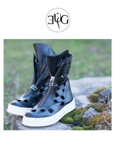 NEW COLLECTION Shoes by EUG fashion - SS/2017   Free express shipping    Black Extravagant women  Sneakers All Genuine Leather   Perfect for any occasion, for your new look.    This is my irresistible summer offer!!!!!!!!    Fit beautifully with everything and everywhere....leggings,pants,trousers,shorts,skirts.maxi dresses,tunics...      Inside soles measurements:   EU 36 // US 6    >>> Length: 23.5 cm / 9.25 inch  EU 37 // US 6.5 >>> Length: 24.5 cm / 9.6 inch   EU 38 // US 7…