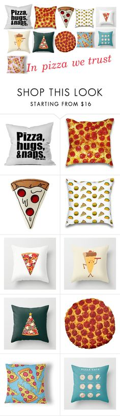 """Sooo many options- pizza pillows"" by tiarocks2006 ❤ liked on Polyvore featuring interior, interiors, interior design, home, home decor and interior decorating"