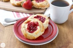 It's National Strawberries and Cream Day! Since strawberries are all over the place, and we can't get enough of them lately, we can't let this day pass by. Of course, I'm celebrating with breakfast food! Strawberries and cream danishes. This is actually the first recipe on the blog for danishes.Since it's a breakfast food, it'sRead More »
