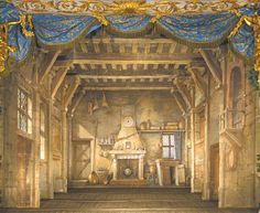 The original interior set of the opera Le Roi et le fermier, or The King and the Farmer, used by Marie Antoinette in 1780