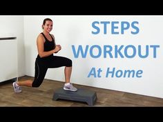 Step Workout - 20 Minute Stepper Workout Routine with Full Body Steps Exercises . - Perfect İdeas For Doing Exercise Step Aerobic Workout, Step Up Workout, Aerobics Workout, Best Cardio Workout, Workout Videos, Stair Stepper Workout, Workout Body, Cardio Routine, Step Workout