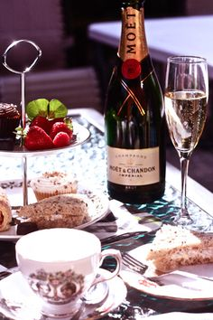 Afternoon Tea with Champagne - a great way to spend a holiday afternoon!