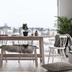 IKEA Norråker dining table and bench