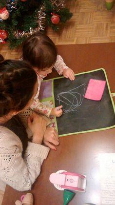 Pizarra enrollable de tela Juegos de tela#elena #children playing #nens jugant