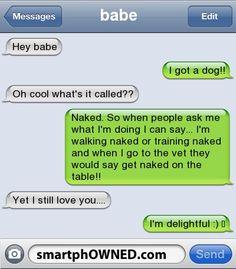 naked the dog